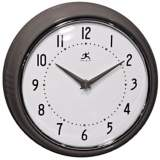 "Retro Iron Metal 9 1/2"" Round Wall Clock"