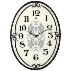 "Pristine 40"" Oval Wall Clock"