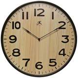 "Arbor II 21"" Round Light Wood Wall Clock"