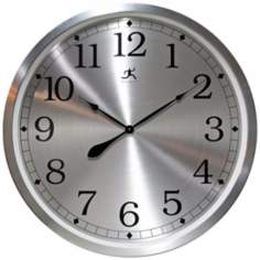 "Radiance 31 1/2"" Round Aluminum Framed Wall Clock"