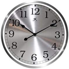 "Luminous 23 1/2"" Round Aluminum Framed Wall Clock"