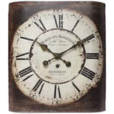 "Bordeaux 19"" High Open Face Metal Wall Clock"