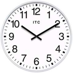 "Profuse 19"" White Round Wall Clock"