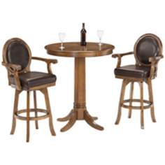 Hillsdale Warrington Leather 3-Piece Bistro Set