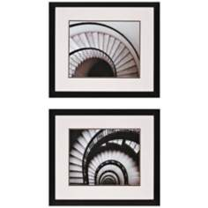 "Set of 2 Stairways 31"" Wide Framed Wall Art"