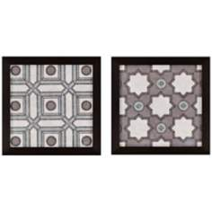 "Set of 2 Caisson 21"" Square Framed Decorative Wall Art"