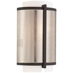 "George Kovacs Mainly Mesh 12"" High ADA Nickel Wall Sconce"
