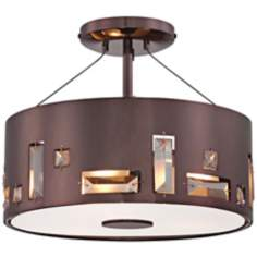 "George Kovacs Bling Bang 12 1/4"" Chocolate Ceiling Light"