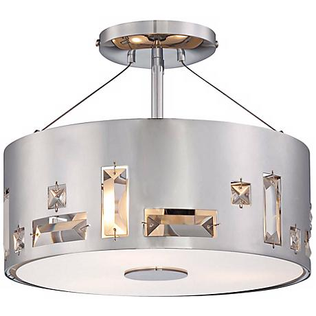 "George Kovacs Bling Bang 12 1/4"" Wide Chrome Ceiling Light"