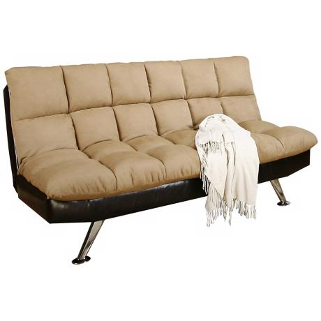 Dulce Klik Klak Tufted Leather Sofa Bed