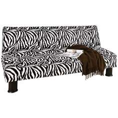 Maple Mod Klik Klak Zebra Print Sofa Bed