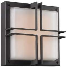 "Piccolo 10"" Square Bronze Outdoor Wall Light"
