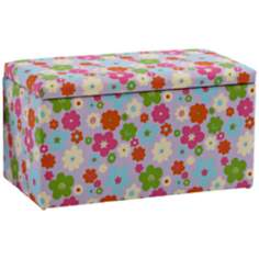Avril Colorful Floral Storage Bench