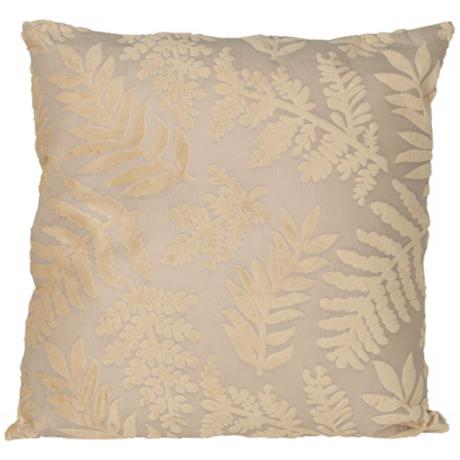 "Fern Design Faux Suede 18"" Square Designer Throw Pillow"