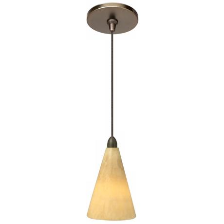 LBL Onyx Cone Bronze Pendant Light