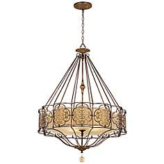 "Feiss Marcella 32 1/4"" Wide British Bronze Chandelier"