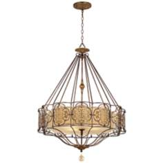 "Murray Feiss Marcella 32 1/4"" Wide British Bronze Chandelier"