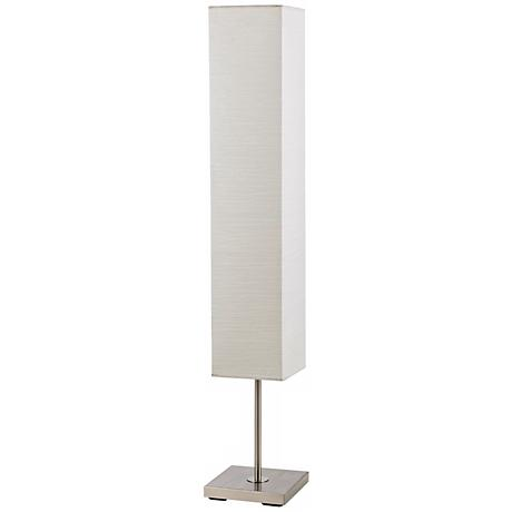 Sullivan Brushed Steel Box Shade Floor Lamp