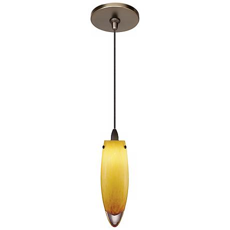 LBL Icicle Amber Glass Bronze Pendant Light