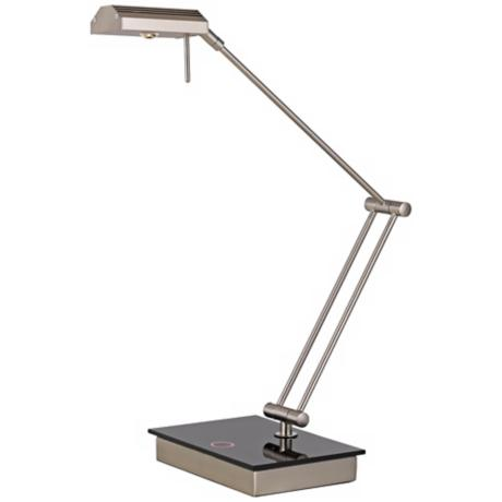 Ruggio Pharmacy Brushed Steel Touch LED Desk Lamp