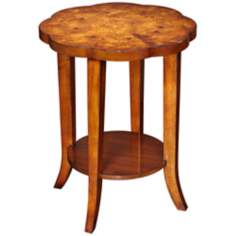 Omega Scalloped Top Wood End Table
