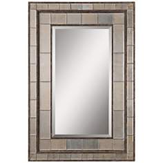 "Uttermost Almont 50"" High Rectangular Framed Wall Mirror"