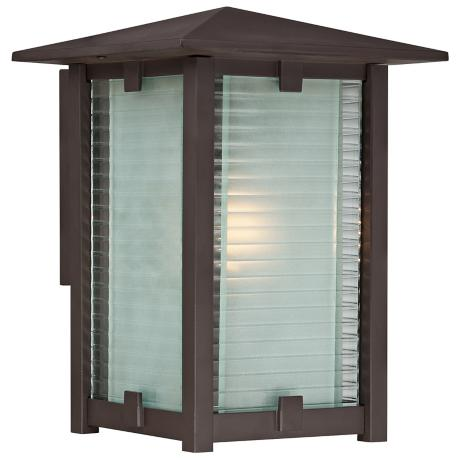 "Quoizel Cypress 9"" Wide Western Bronze Outdoor Wall Light"