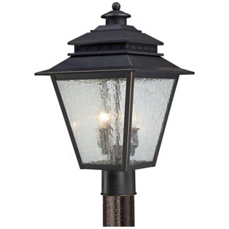 "Quoizel Carson 11"" Wide Weathered Bronze Outdoor Post Light"