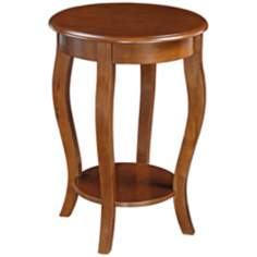 Peyton Cherry Round Wood End Table