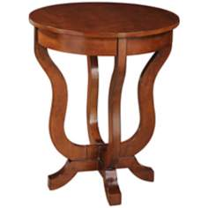 Emily Cherry Wood End Table