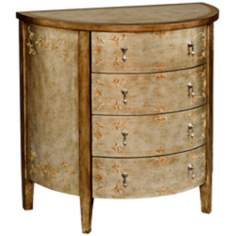 Demilune 4-Drawer Accent Chest