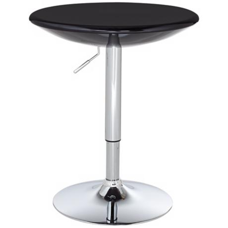 Kelly Black and Chrome Bar Table