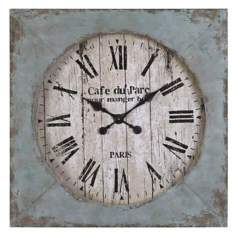 "Uttermost Paron 29 1/4"" High Distressed Wood Wall Clock"