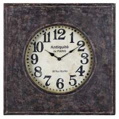 "Uttermost Jardine 23 3/4"" High Rustic Metal Wall Clock"