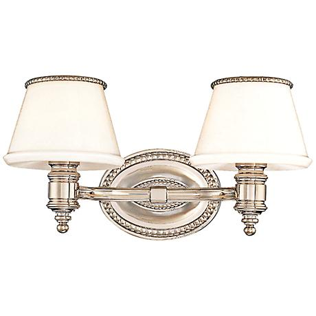 "Hudson Valley Richmond 2-Light 14 1/2""W Nickel Bath Light"