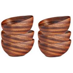 Pacific Merchants Acaciaware® Set of 6 Bermuda Wood Bowls