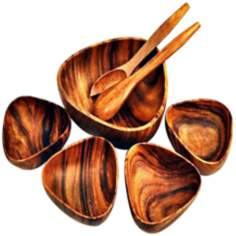 "Pacific Merchants Acaciaware 7-Piece 10"" Bermuda Bowls Set"