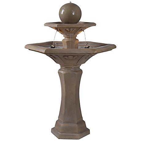 The Provence Three Tier Outdoor Garden Fountain with Lights