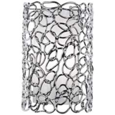 "Acrylic Swirl 13"" High Chrome Wall Sconce"