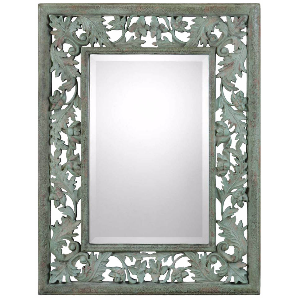 "Uttermost Soana 24 3/4"" Wide Mossy Green Wall Mirror   #W2577"