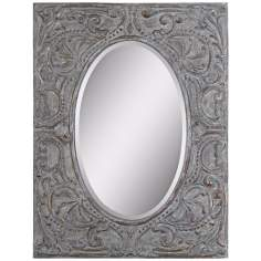 "Uttermost Silanus 44"" High Rectangular Wall Mirror"