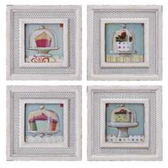 Uttermost Set of 4 Cupcakes I-IV Kitchen Wall Art Prints