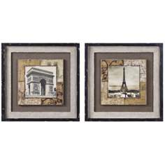 Uttermost Set of 2 Paris Tokens I and II French Wall Art