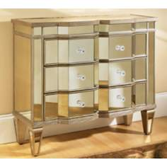 Marquis 3-Drawer Mirrored Accent Chest