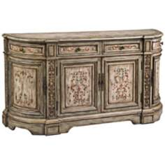 Vera Dusty Sage and Cream Hand-Painted Console