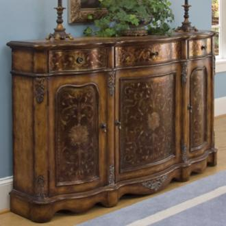 Crete Antique Look Rustic Chic Credenza (W2680)