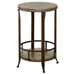 Garden Antique Pewter Accent Table