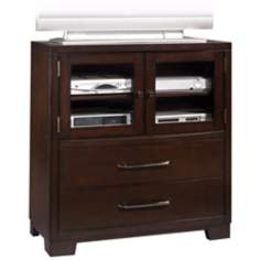 Sable Black 2-Drawer Media Chest