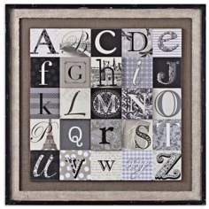 "Uttermost 36"" Square Designing Alphabet Wall Art"