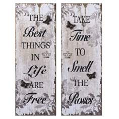 Uttermost Set of 2 Timeless Sayings I, II Retro Wall Art